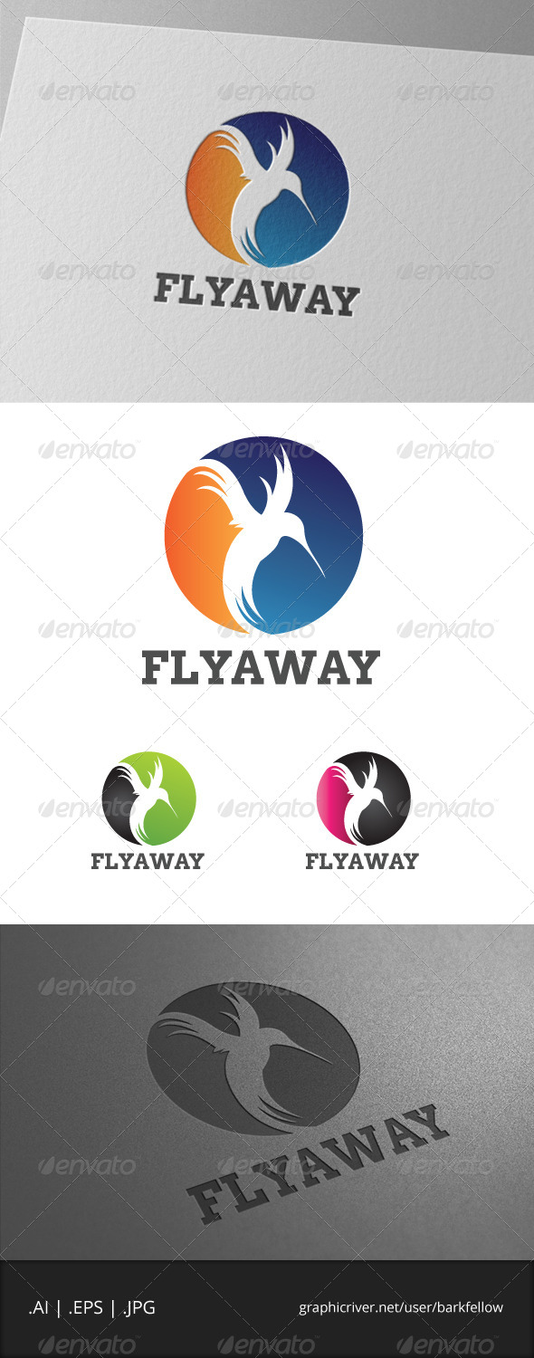 GraphicRiver Fly Away Bird Template 6925742