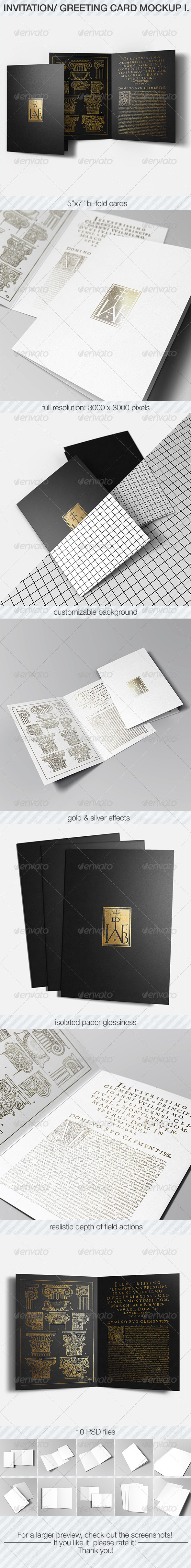 GraphicRiver Invitation & Greeting Card Mockup Pack I 6925817
