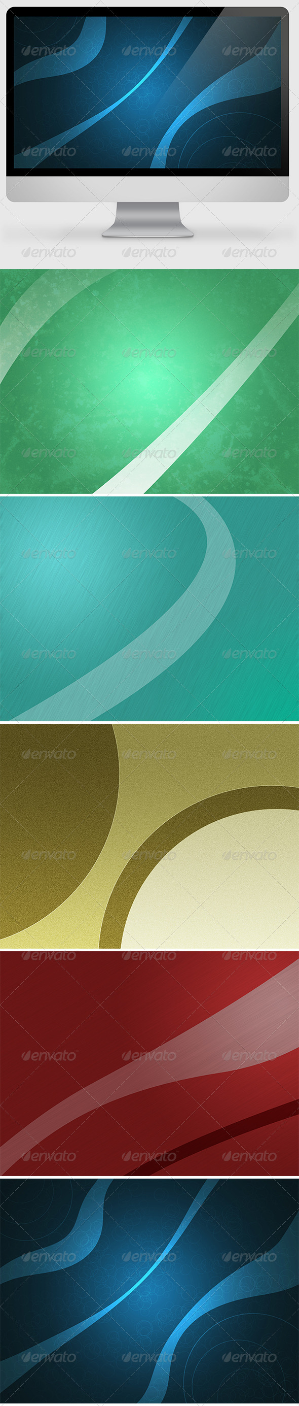 GraphicRiver 5x Abstract Backgrounds 6925967
