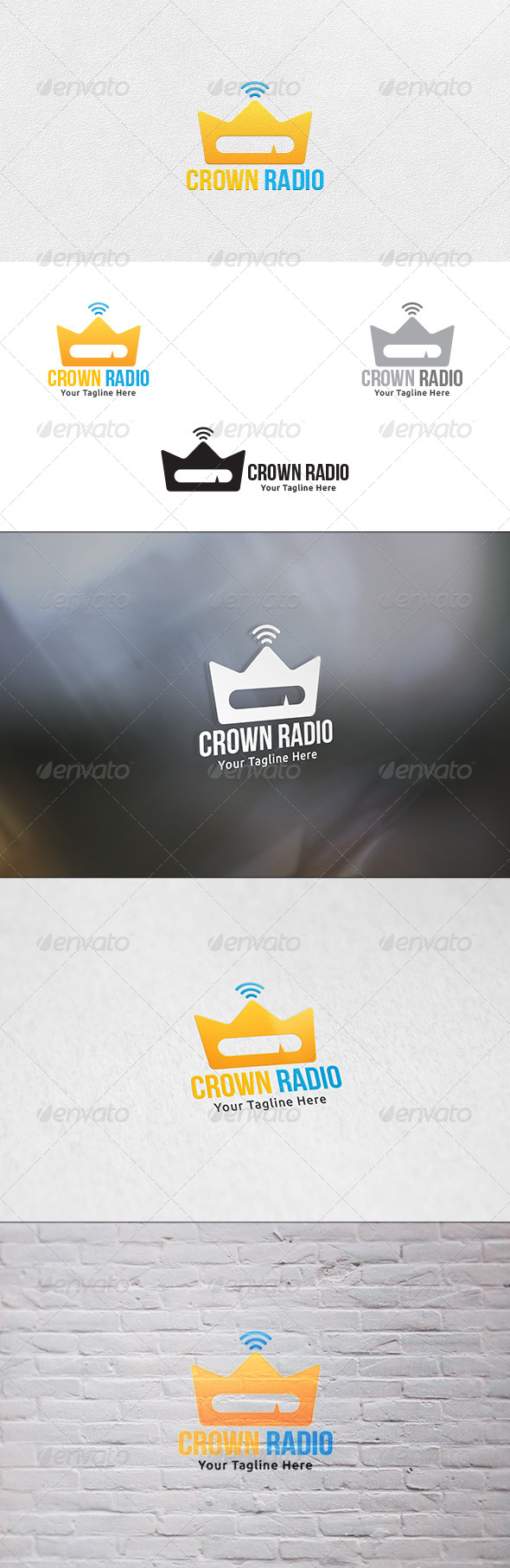 GraphicRiver Crown Radio Logo Template 6926146