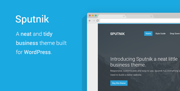 Sputnik - A Tidy Business WordPress Theme - Marketing Corporate
