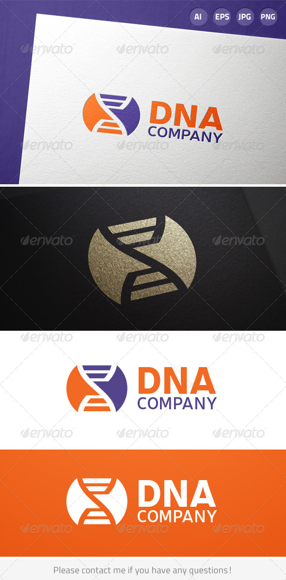 GraphicRiver DNA Science Logo 6926991