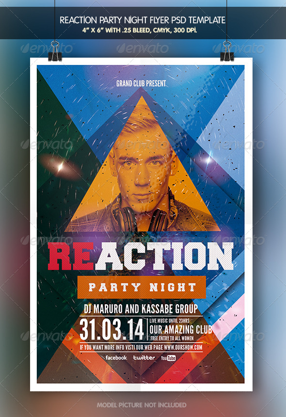 GraphicRiver Reaction Party Flyer Template 6927022