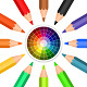 Colored Pencils Arranged in a Circle - GraphicRiver Item for Sale