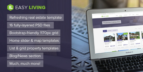 ThemeForest Easy Living Real Estate PSD Template 6907538