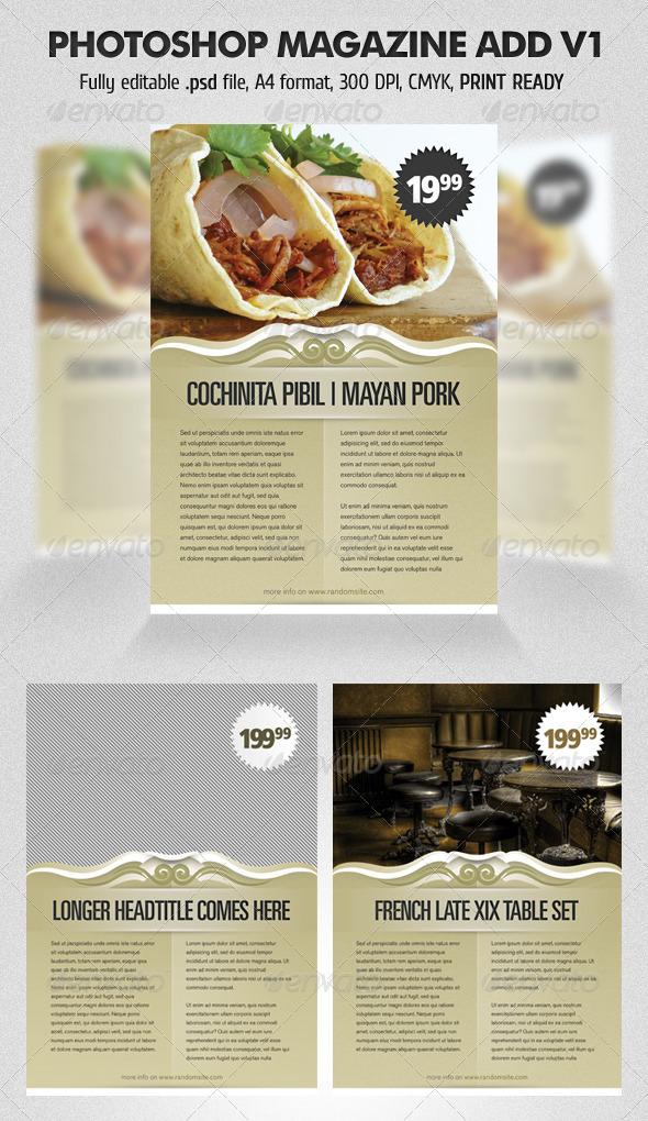 Graphic River Photoshop Magazine Add V1 Print Templates -  Magazines 726307