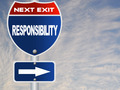 Responsibility road sign - PhotoDune Item for Sale