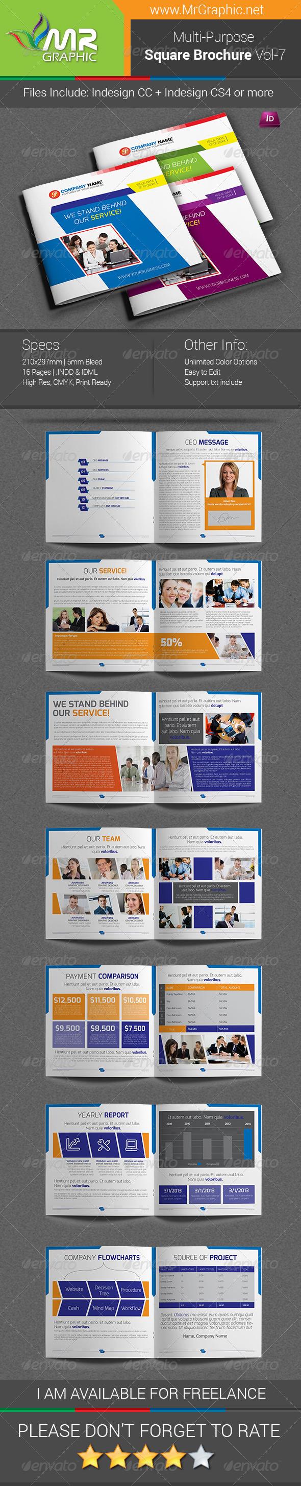 GraphicRiver Multipurpose Square Brochure Template Vol-07 6930701