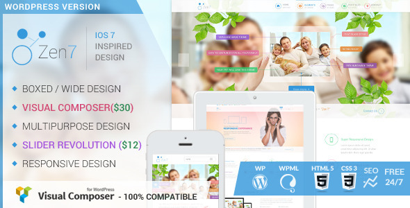 ThemeForest Zen7 Premium Multi-Purpose Wordpress Theme 6932565