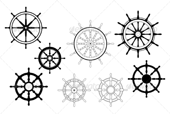 GraphicRiver Nautical Ships Wheels 6933257
