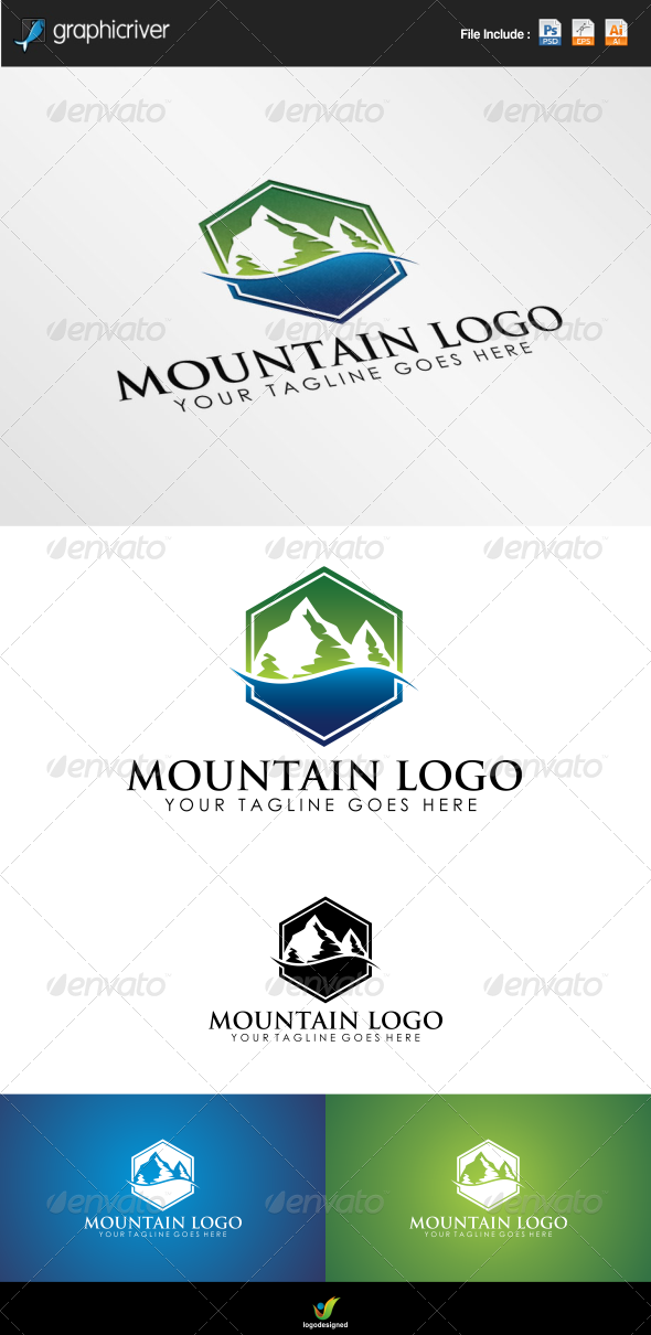 GraphicRiver Mountain Logo 6933892
