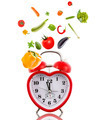 Clock in shape of heart with vegetables. - PhotoDune Item for Sale