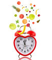 Clock in shape of heart with fruits - PhotoDune Item for Sale