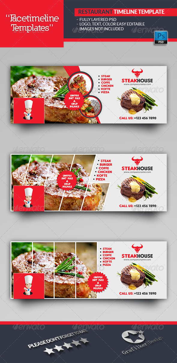 GraphicRiver Restaurant Timeline Templates 6933921