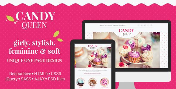 ThemeForest Candy Queen Responsive One Page Portfolio 6925784