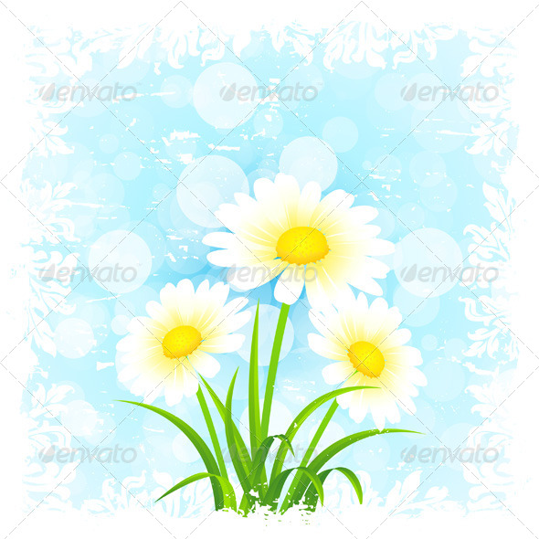 GraphicRiver Grungy Flower Background 6937179