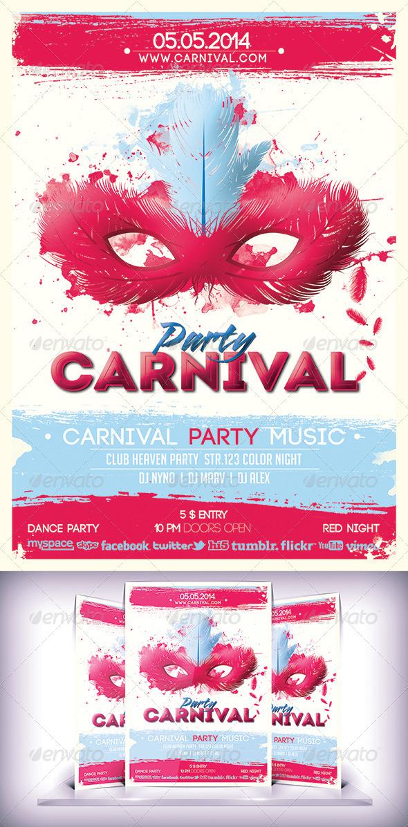 GraphicRiver Cartoon Carnival Party 6926976