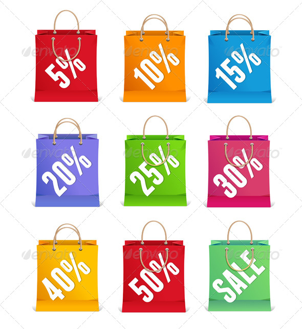 GraphicRiver Sale Shopping Bags 6938118