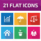 21 Flat Icons - GraphicRiver Item for Sale