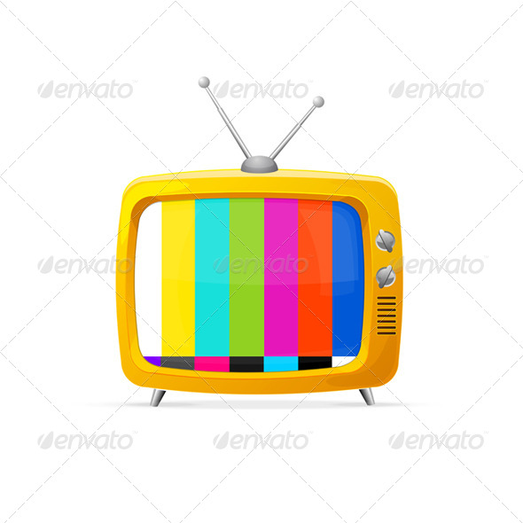 GraphicRiver Illustration of Retro TV 6938226
