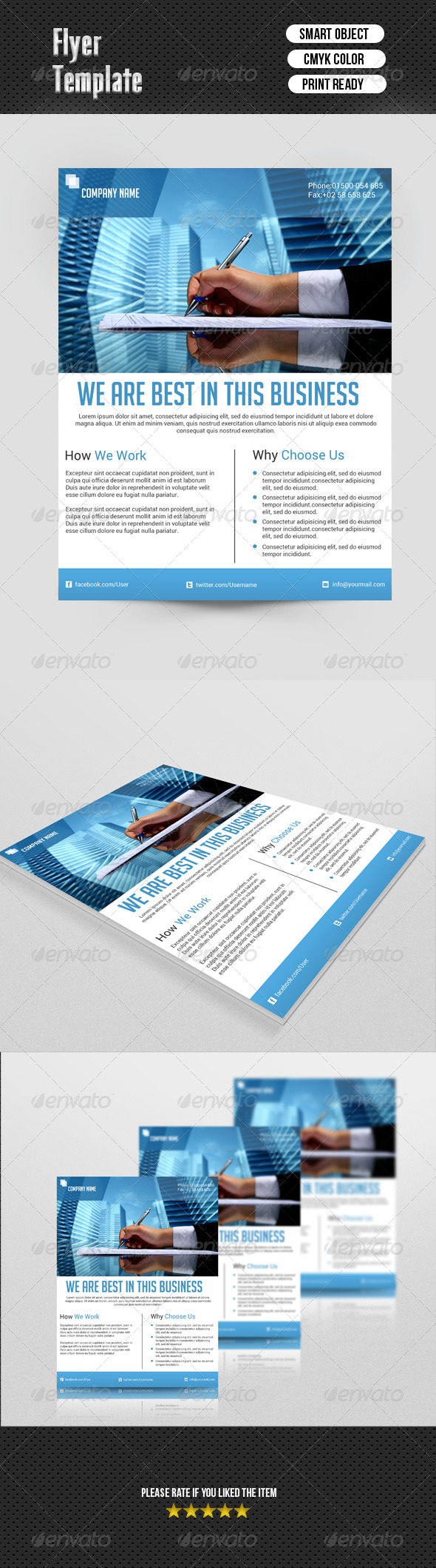GraphicRiver Business Flyer Template 6938264
