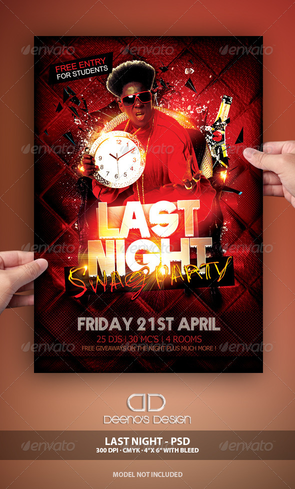 GraphicRiver Last Night Flyer Deeno s Designs 6927289