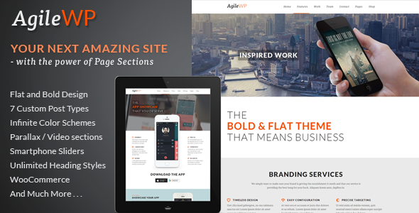 Agile - Multi-Purpose App Showcase WordPress Theme - Software Technology
