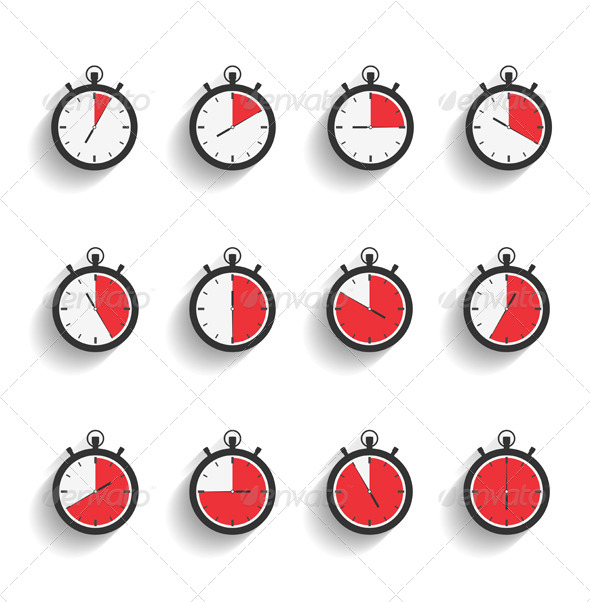 GraphicRiver Stopwatch Icons 6939877