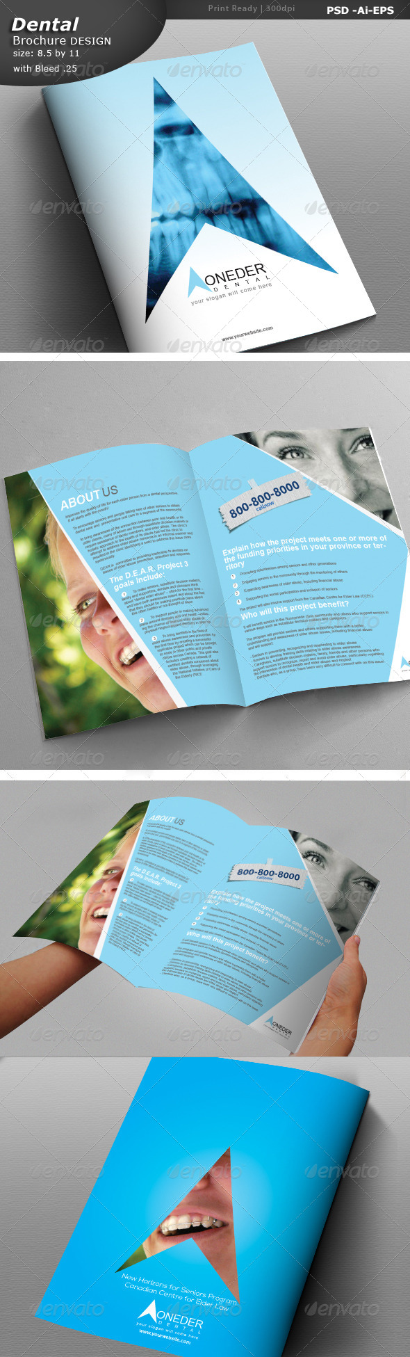 GraphicRiver Dentist Brochure Design 6928841