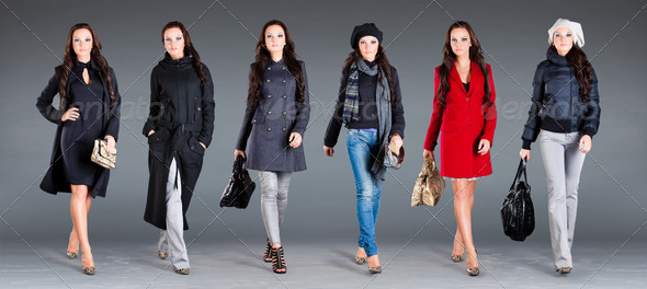 autumn winter collection  lady's clothes - Stock Photo - Images