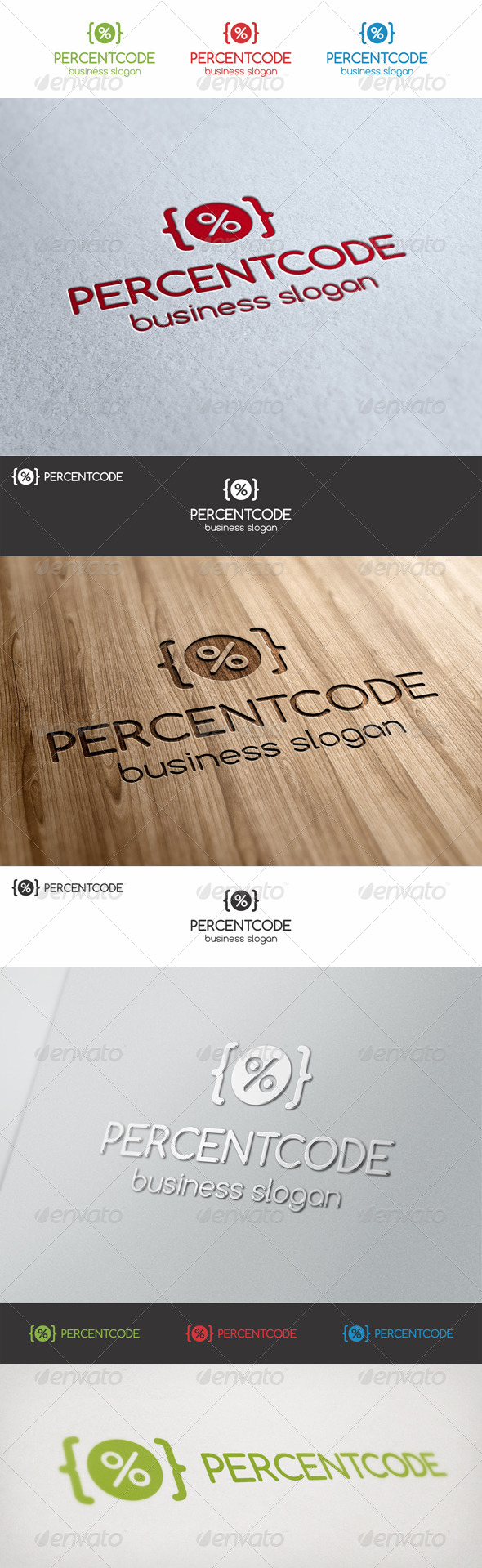GraphicRiver Percent Code Logo Template 6941027