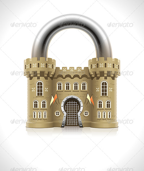 GraphicRiver Castle Padlock 6941242