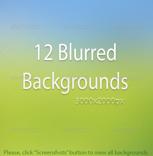 GraphicRiver 12 Amazing Blurred Backgrounds 6941764