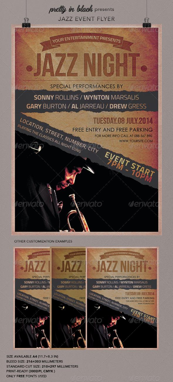 GraphicRiver Jazz Event Flyer 6941786