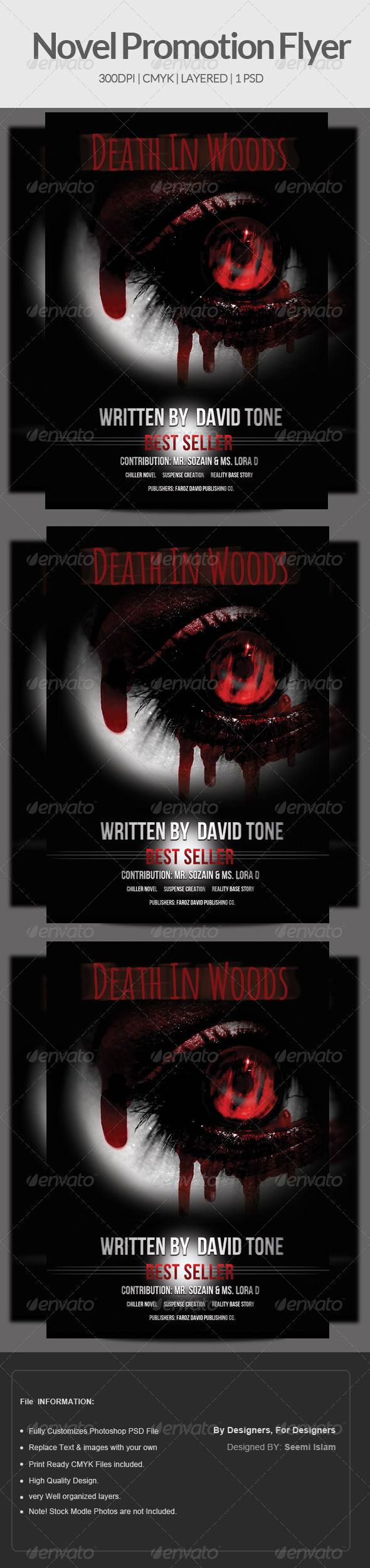 GraphicRiver Novel & Book Promotion Flyer Template 6940135