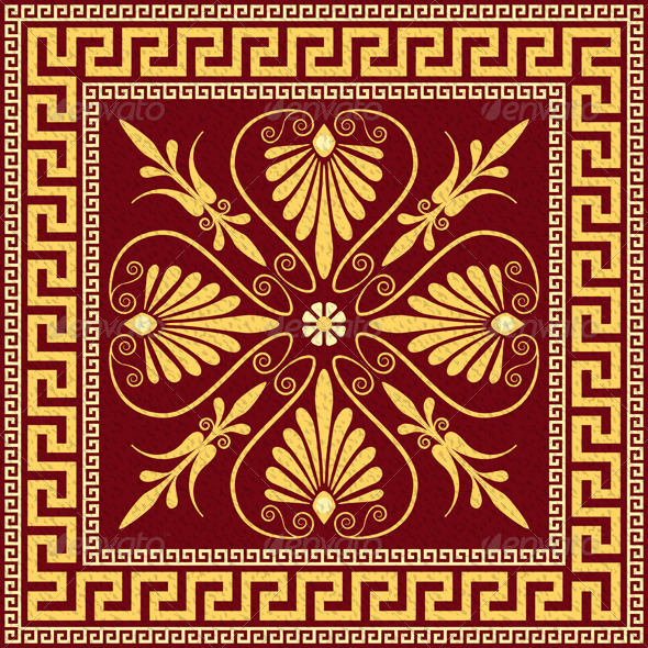 GraphicRiver Vector Traditional Vintage Gold Greek Ornament 6942285