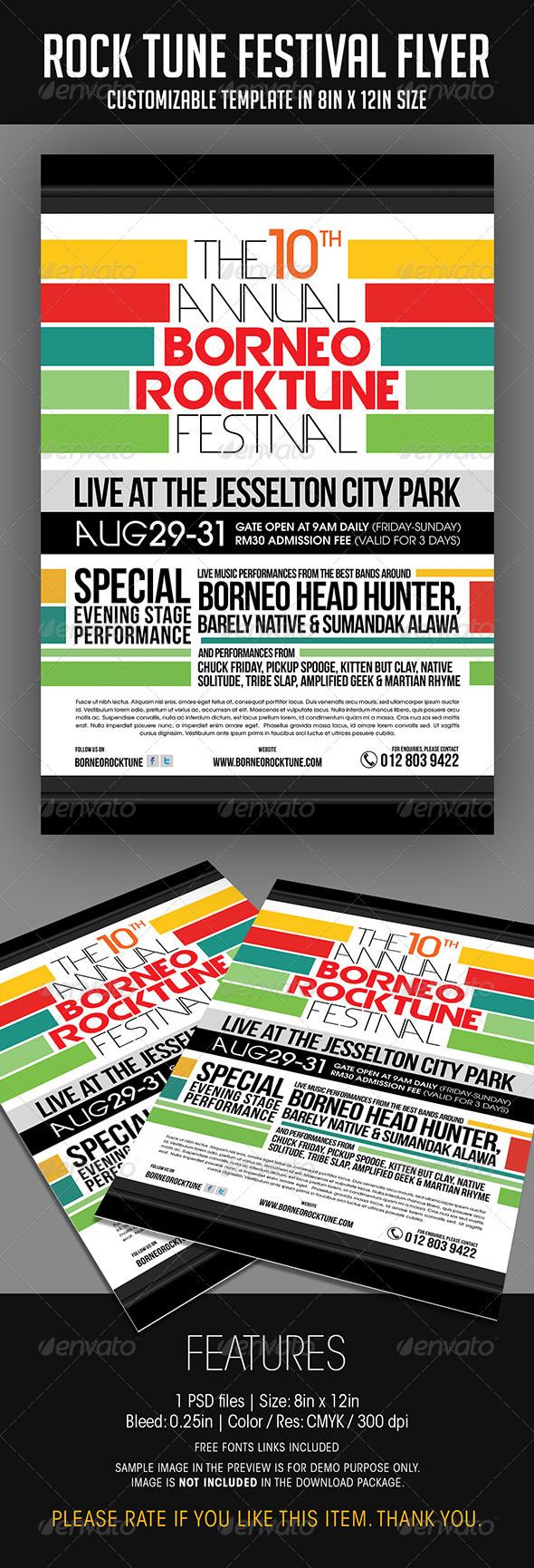 GraphicRiver Rock Tune Festival Flyer 6942541
