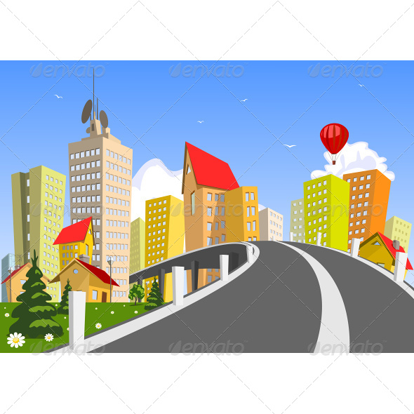 GraphicRiver Colorful Vector City 6942631