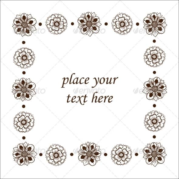 GraphicRiver Floral Frame 6942670