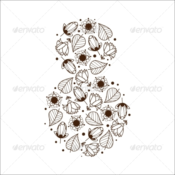 GraphicRiver 8 of Flowers 6942689
