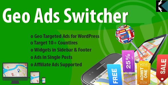 Show Geo Targeted Ads to Visitors Geo Ads Switcher Plugin has ability to filter the HTML, Java Scripts, Banner, and Affiliate Ads according to visitor's c