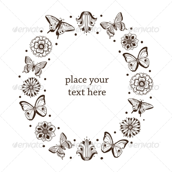 GraphicRiver Butterflies Frame 6942725