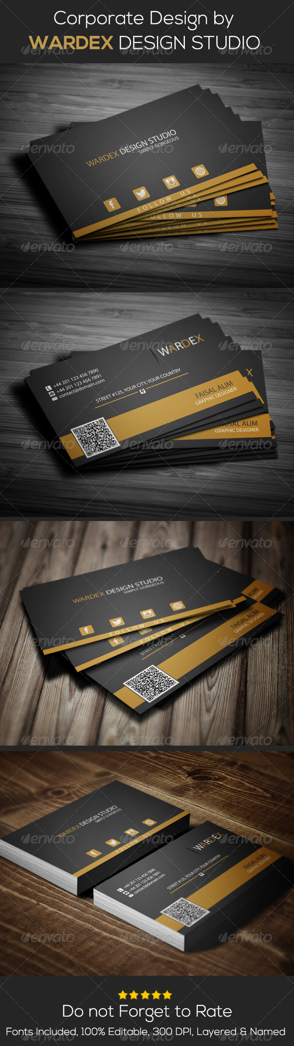 GraphicRiver Corporate Business Card Design 6943536