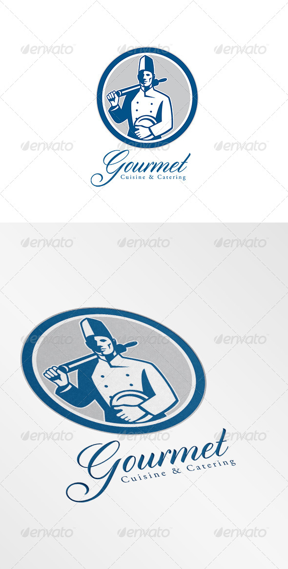 GraphicRiver Gourmet Cuisine and Catering Logo Retro 6943672