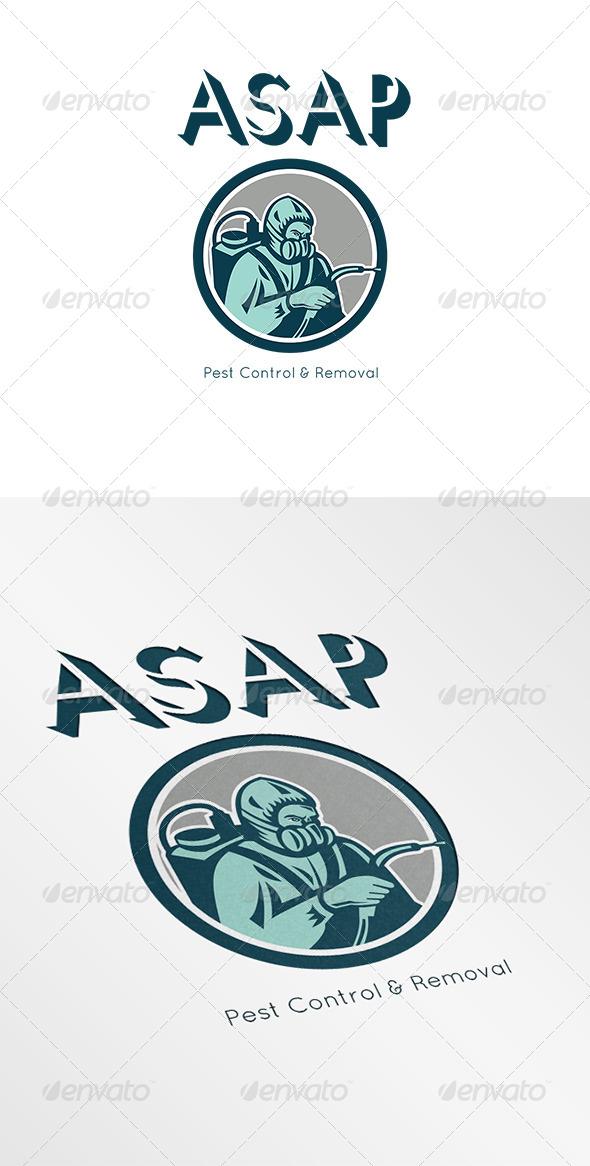 GraphicRiver Pest Control Exterminator Logo 6944089