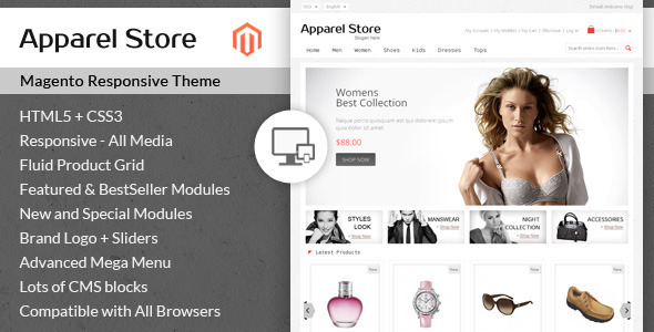 ThemeForest Apparel Store Magento Responsive Theme 6944749