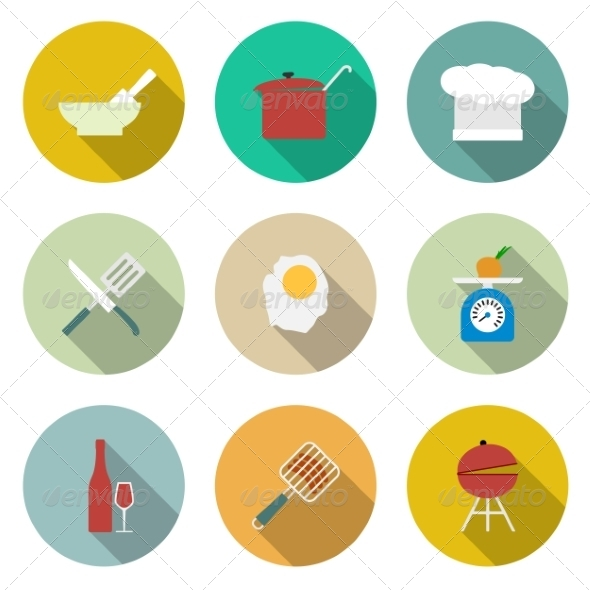 GraphicRiver Cooking Icons 6945696