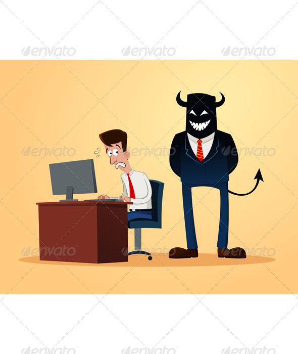 GraphicRiver Scary Supervisor 6945996