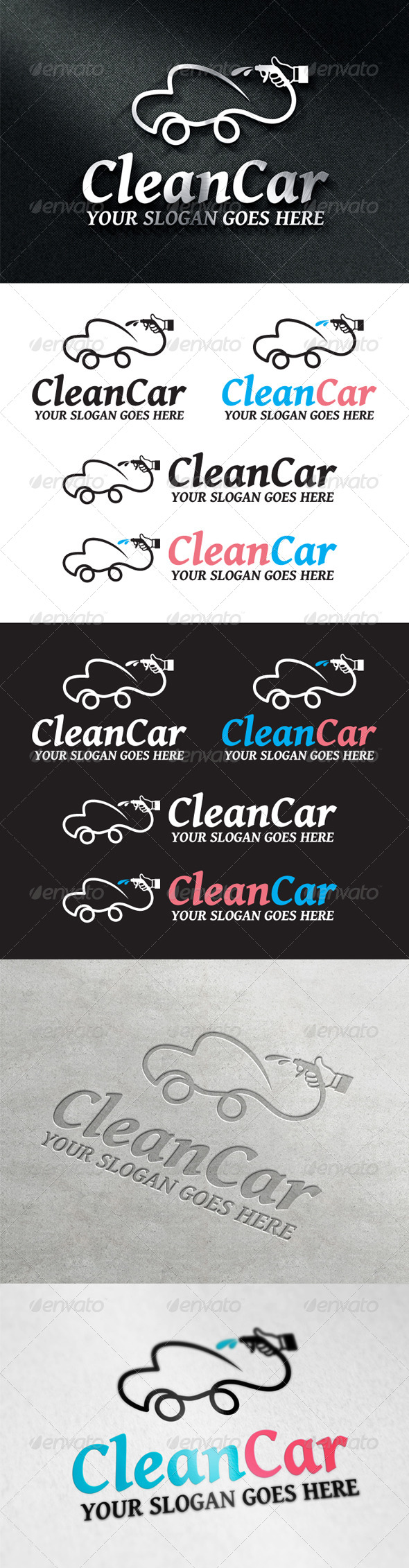 GraphicRiver CleanCar Logo 6946949