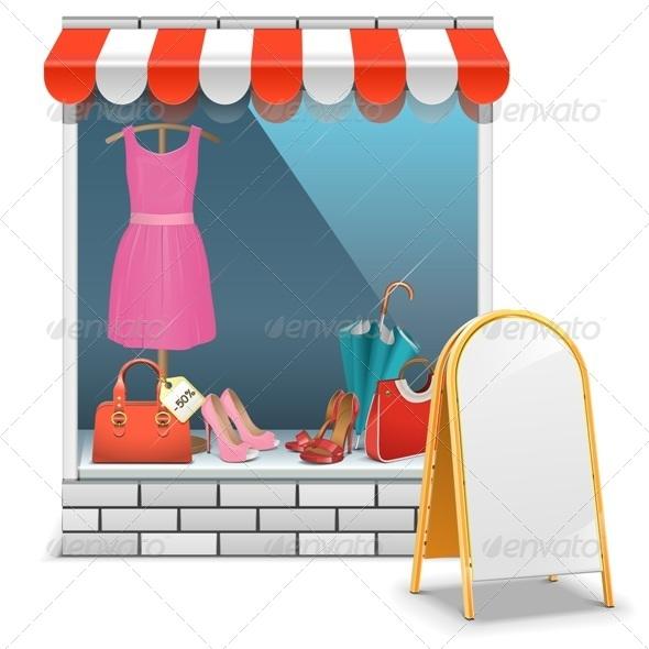 GraphicRiver Vector Boutique with Billboard 6947128
